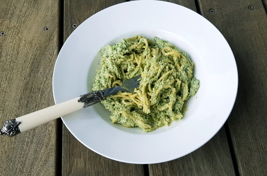 Gluten Free, Dairy Free and Delicious Creamy Broccoli and Walnut Pasta